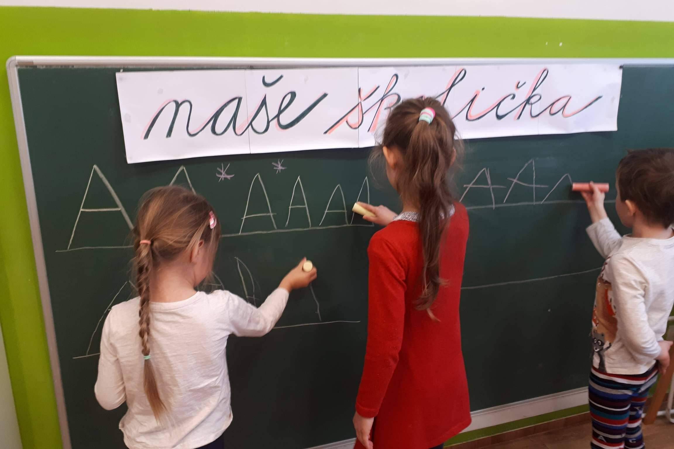 Nácvik psaní s předškoláky 11.1.2021